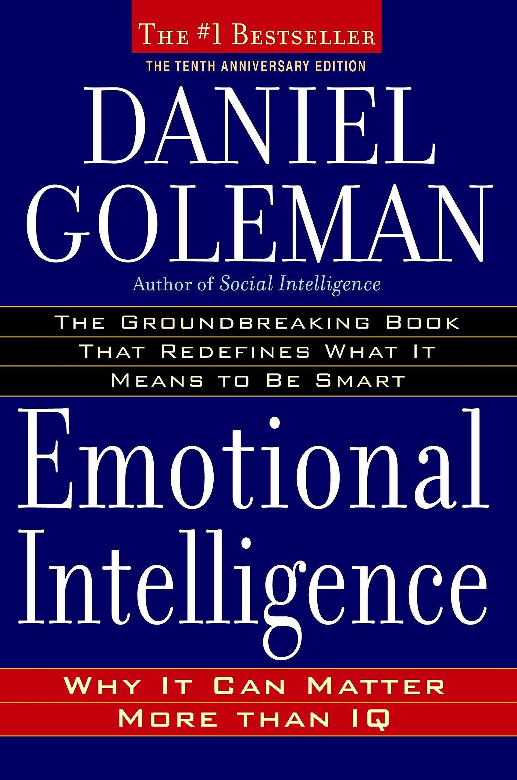 Book cover of Emotional Intelligence by Dr. Daniel Goleman